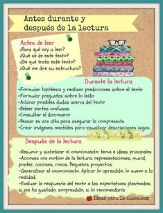 Spanish Language Learning, Teaching Spanish, Teaching Reading, Teaching Resources, Reading Strategies, Reading Comprehension, Spanish Lessons For Kids, Reading Club, Kids Schedule