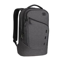 With pockets to organize all of your tech gadgets and personal accessories, this backpack offers style and storage for day to day use. The OGIO Newt 15 backpack is made from durable ballistic polyester, oxford polyester and poly/cotton fabric and has a sleek and streamlined design with multiple pockets for organization, a padded back panel for comfort and dual density foam shoulder straps. This backpack has a roomy main compartment and includes a padded, fleece lined laptop pocket. $79