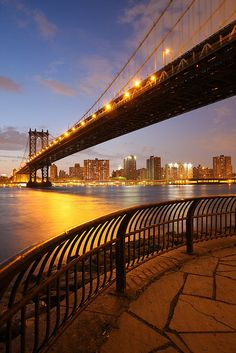 Manhattan Bridge ~ suspension bridge connecting Lower Manhattan with Brooklyn, New York by enfi