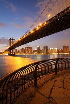 Manhattan Bridge ~ suspension bridge connecting Lower Manhattan with Brooklyn, New York by enfi