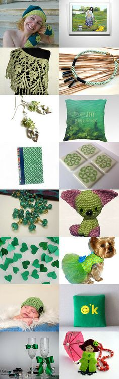 Green - for her, for home, for baby, for puppy by Marieta Marinova on Etsy--Pinned with TreasuryPin.com