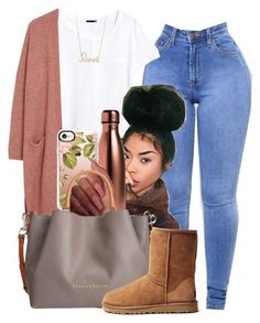 """""""Fall"""" by melaninprincess-16 ❤ liked on Polyvore featuring H&M, S'well, Casetify, Dooney & Bourke, UGG Australia and Sydney Evan"""