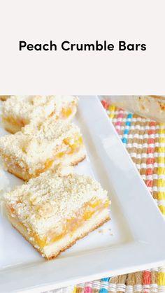 Summer Dessert Recipes, Desserts To Make, Delicious Desserts, Easy Peach Dessert, Vanilla Desserts, Easy Summer Desserts, Summer Cakes, Fun Baking Recipes, Cookie Recipes