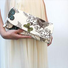 Butterfly Clutch / Bird Clutch  / Clutch Purse / by HelpandHold, $32.00