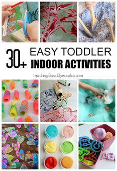30+ Toddler Indoor Activities that are Super Fun