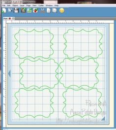 Making Pattern Templates with teh Cricut - done by Felicia