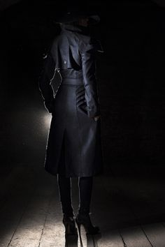 The Coat of Lorica by Reval Denim Guild /  Combining feminine shape with manly aspects, the Coat of Lorica accents the female figure by narrowing the waistline and emphasizing the chest. The arrow like scales on the side and protected shoulders add a sense of durance and vigor to the bearer.