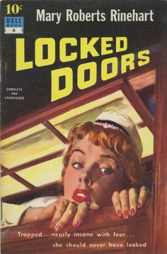 Baryé Phillips: Locked Doors by Mary Robert Rinehart / Dell 10 Cent Books 4, 1951