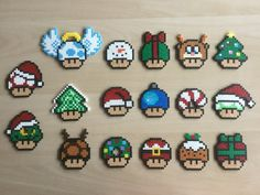 Super Mario, Level Up, Christmas, Gems – Famous Last Words Quilting Beads Patterns Melty Bead Patterns, Hama Beads Patterns, Beading Patterns, Perler Bead Mario, Christmas Perler Beads, Modele Pixel Art, Art Perle, Perler Bead Templates, Peler Beads