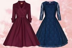 Get the 1950's look with a vintage-inspired mother of the bride dress from Lindy Bop.
