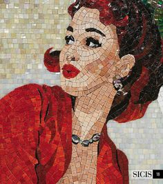 Pin Up Gena : pinup mosaic collection by Sicis Italy