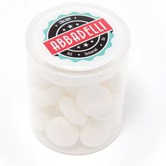 Our new Sweet Pots are great for refreshments whilst on the course   Clear tub contains loose Soft Mint sweets.   Branding method: Full colour printed with your logo on top of tub on lid.