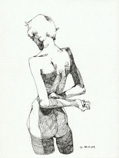 / Sketching à la Schiele /