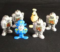 Cap'n Crunch Lot of 6 PVC Figures Vintage Soggies Squish Sogmaster 1986 Cereal