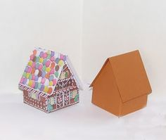 instructions for paper gingerbread house