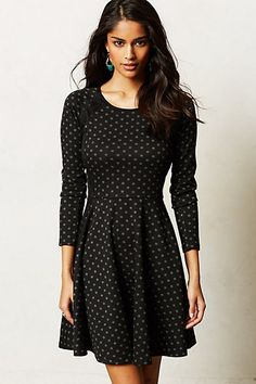 Lace-Framed Dress #anthropologie this is actually the sweater dress I've been looking before <3