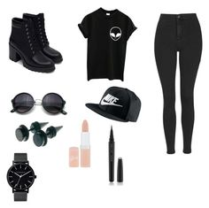 """""""The bassist"""" by c3a3n3d3y3 on Polyvore featuring Topshop, Zara, NIKE, The Horse, Rimmel, Marc Jacobs, women's clothing, women's fashion, women and female"""