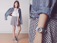 Baby G Watch, Mart Of China Top, Ellysage Skirt, Naughty Monkey Shoes, Choies Jacket
