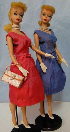 1964 Vintage Barbie Silk Campus Belle Dress