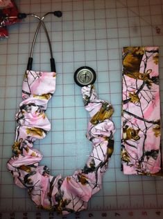 Real Tree Pink. Stethoscope cover by ADashofSouthernCharm on Etsy, $8.50