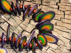 Купить Набор Колье и серьги Делма - разноцветный, украшения ручной работы, креативный подарок