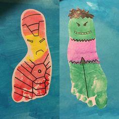 Footprint superheroes