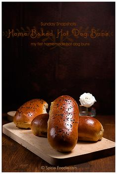 Sunday Snapshots: My First Home Baked Hot Dog Buns, baked from The Bread Baker's Apprentice cookbook.