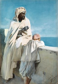 A Moorish man and boy - Anders Zorn #Moors #Moorish #Moor #African
