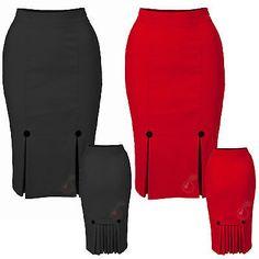Voodoo Vixen Kick Pleats Wiggle Skirt Rockabilly Pin Up Retro Pencil Mad Men   Roupas, calçados e acessórios, Roupas femininas, Saias   eBay!