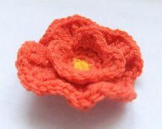 Poppy (crochet)- cute for hair accessory