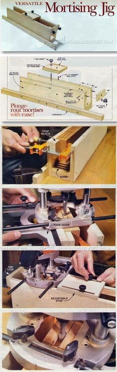 Router Mortising Jig - Joinery Tips, Jigs and Techniques | WoodArchivist.com