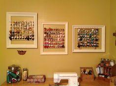 Framed spool racks.