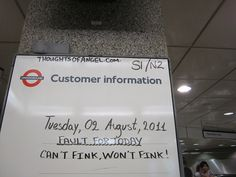 Fault of the Day - Angel Tube - 2nd August 2011 by Annie Mole, via Flickr