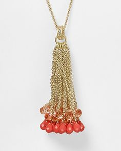 Juicy Couture Briolette Tassel Necklace, 31"