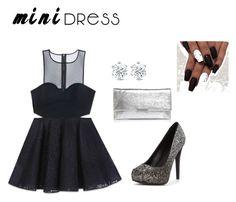 Elegant Black Minidress by aufarahma on Polyvore featuring polyvore, fashion, style, Bebe, Loeffler Randall and clothing