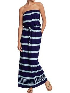 Women's Striped Maxi-Tube Dresses | Old Navy sz small or xs