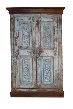 Rustic antique hand carved wooden cabinet with front 2 door one shelves for plenty of storage, this is the perfect piece for your bedroom. Unique style and design to your home interior. Beautiful and amazing cabinet. Indian Furniture, Western Furniture, Primitive Furniture, Rustic Furniture, Antique Furniture, Diy Furniture, Outdoor Furniture, Modern Furniture, Industrial Furniture