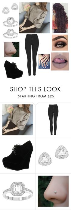 """""""Untitled #3069"""" by vanessa898 ❤ liked on Polyvore featuring Topshop, Forever Link and Swarovski"""