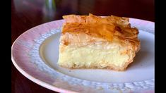 I present you Galaktoboureko, my favourite Greek dessert of all time! It's crispy layers of Greek phyllo pastry on top and on the bottom, filled with a cream. Greek Sweets, Greek Desserts, No Cook Desserts, Greek Recipes, Just Desserts, Dessert Recipes, Greek Meals, Easter Desserts, Amish Recipes