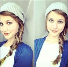 Super cute winter hairstyle! :)