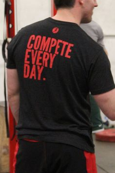 Did you sport your #Compete shirts this weekend during your #run, #CrossFit #workout, or game?