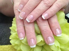 Eye Candy Nails & Training - Acrylic nails with French polish by Nicola Senior on 31 January 2013 at Salon Pictures, Nail Art Pictures, Manicures, Gel Nails, Acrylic Nails, French Polish, French Nails, One Stroke Nails, Gel Nail Extensions