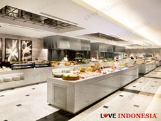 Fairmont Jakarta, Hotel Buffet, Cafe Counter, Catering, Kitchen Island, Kitchen Design, Table Decorations, Dining, Interior Design
