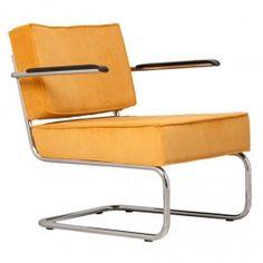 Rib Ridge Lounge. Relax fauteuil incl. armleuningen.  De Ridge rib Lounge is een tijdloze design buisframe stoel.
