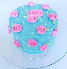Shabby Chic Smash Cake by CUPCAKES AND CONFETTI @ CupcakesandConfetti.com Instagram & Facebook @cupcakesandconfetti1