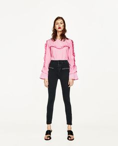 ZARA - WOMAN - HIGH RISE JEANS WITH ZIPS