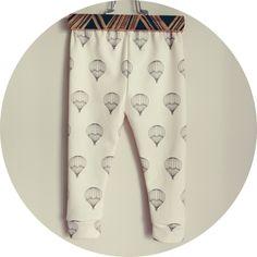 organic cotton hot air balloon leggings
