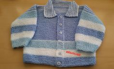 Casaquinho para bebê em tricô