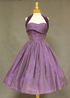 1950's Organdy Cocktail Dress