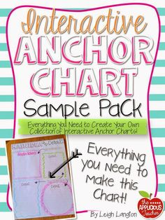 main idea and details anchor chart